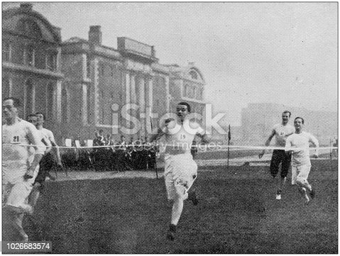 Navy and Army antique historical photographs: Naval college sports, Running race
