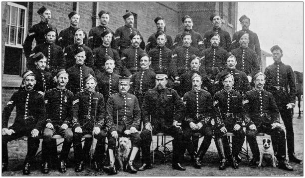 navy and army antique historical photographs: police, aldershot - archival stock photos and pictures