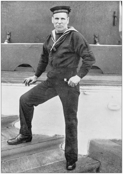 Navy and Army antique historical photographs: Sailor Navy and Army antique historical photographs: Sailor sailor stock pictures, royalty-free photos & images