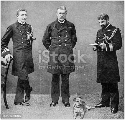 1143756392 istock photo Navy and Army antique historical photographs: Sir John Hopkins in Malta 1027603656