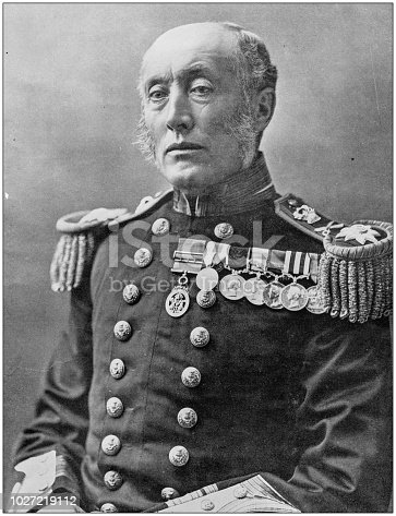 Navy and Army antique historical photographs: Vice Admiral Lord Charles Thomas Montagu Douglas Scott