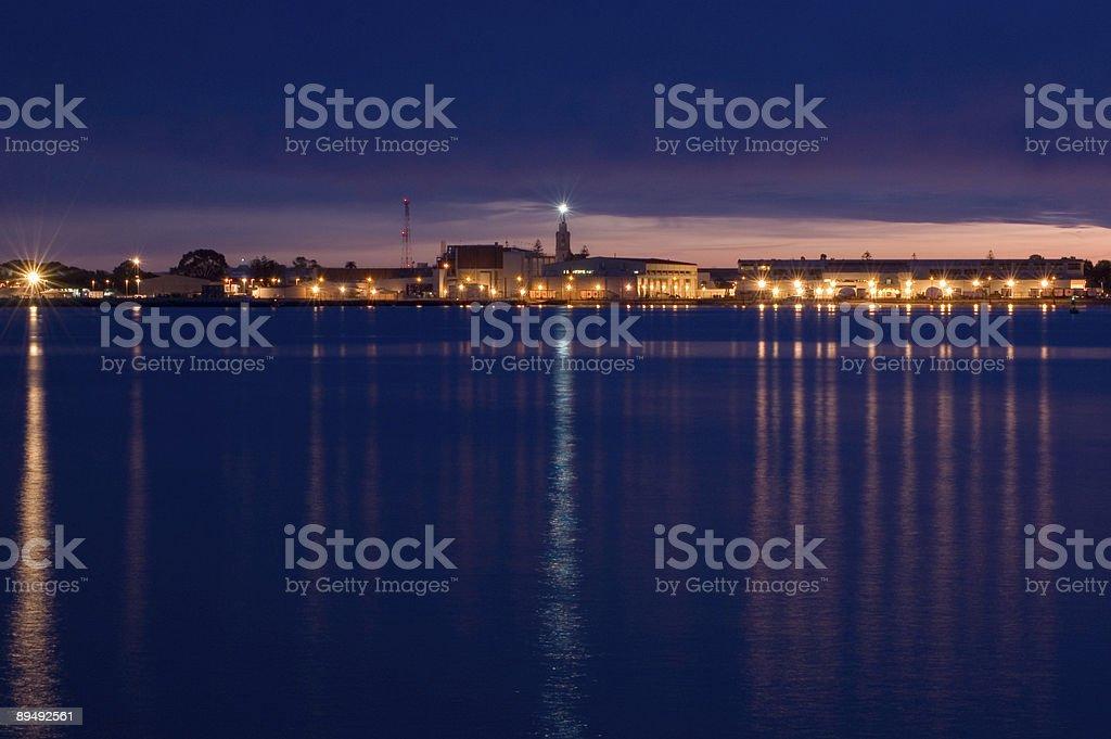 Navy Base at Night royalty-free stock photo