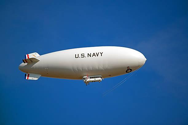 US Navy Blimp stock photo