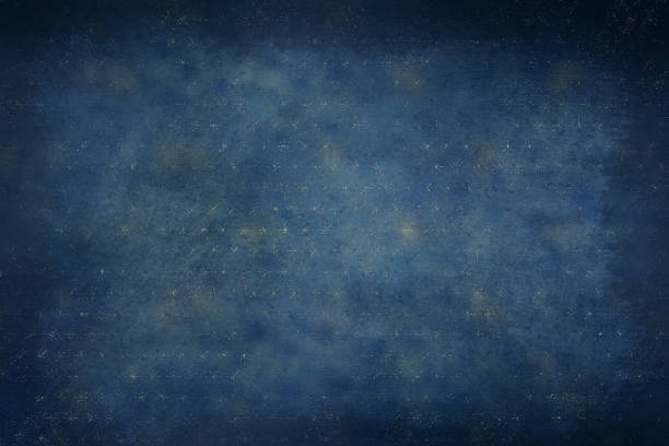 navy blue and gold celestial stars background with dark vignette - navy stock photos and pictures