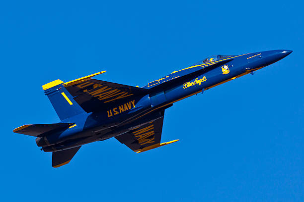 us navy blue angels performing air show routine - sonic boom stock photos and pictures