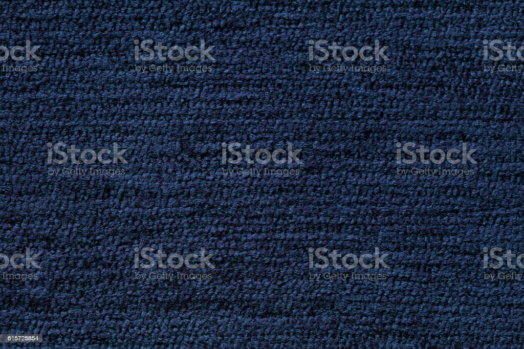 Navy blue background from soft textile material. stock photo