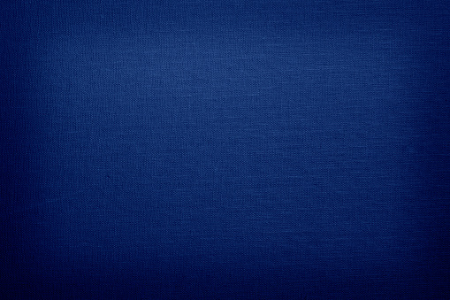 Navy blue linen with texture with vignette