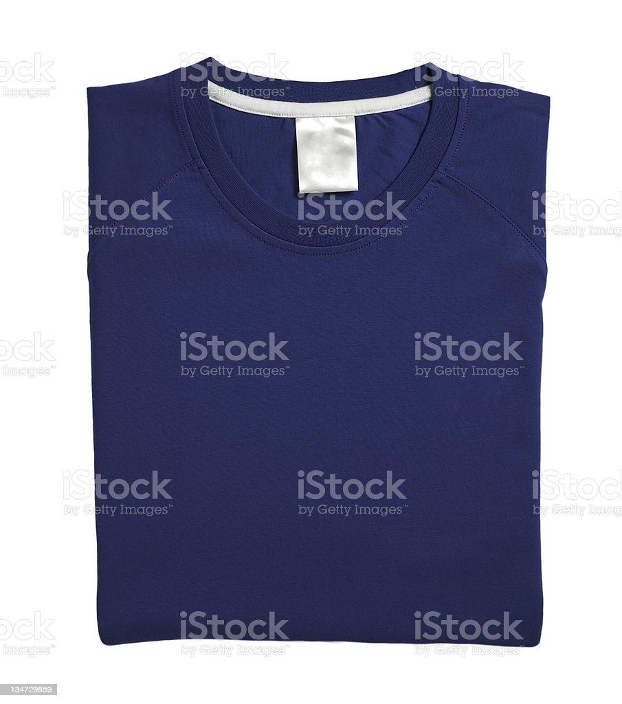 navy blue folded tshirt royalty-free stock photo