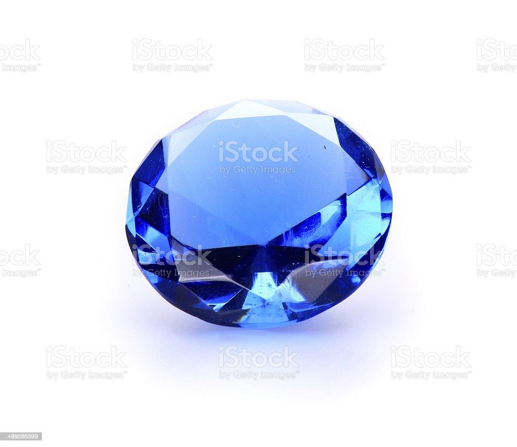 Navy blue Gem stone stock photo