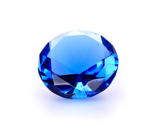 navy blue gem stone - sapphire gemstone stock photos and pictures