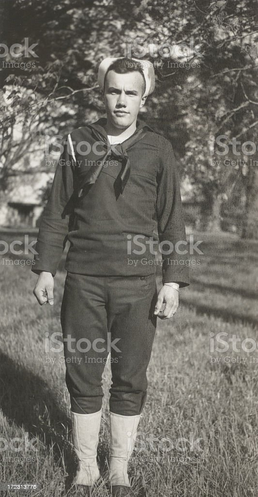 Navy Boy - WW2 royalty-free stock photo