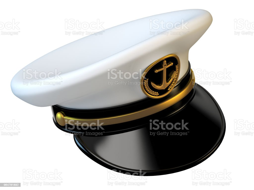 Navy cap, ship officer, admiral, sailor, naval captain hat royalty-free stock photo