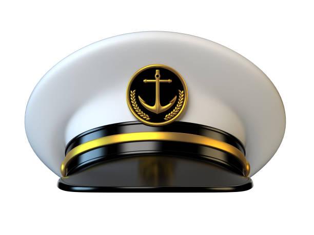 Chapeau de capitaine de vaisseau, amiral, cap marine, marin, officier du navire - Photo