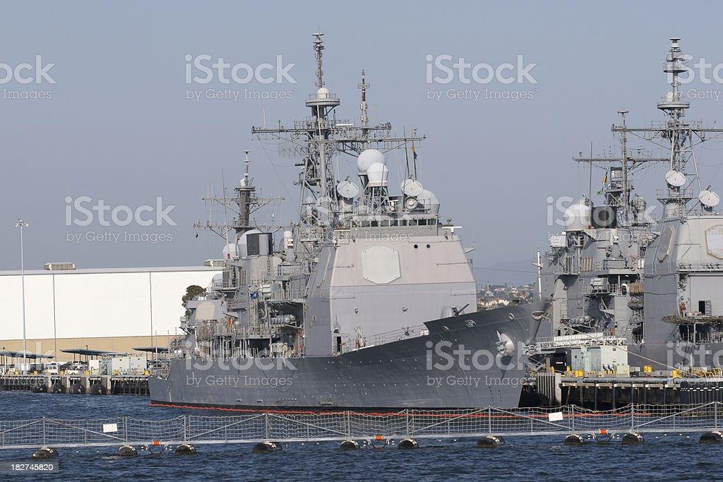US Navy Cruiser stock photo