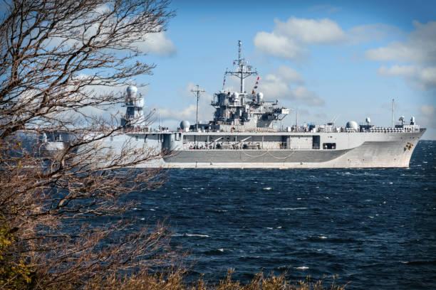 Navy Departing stock photo