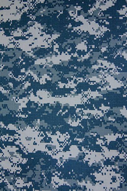 marynarka wojenna usa cyfrowy tkanina tekstura tło ze wzorem kamuflażowym - kamuflaż zdjęcia i obrazy z banku zdjęć