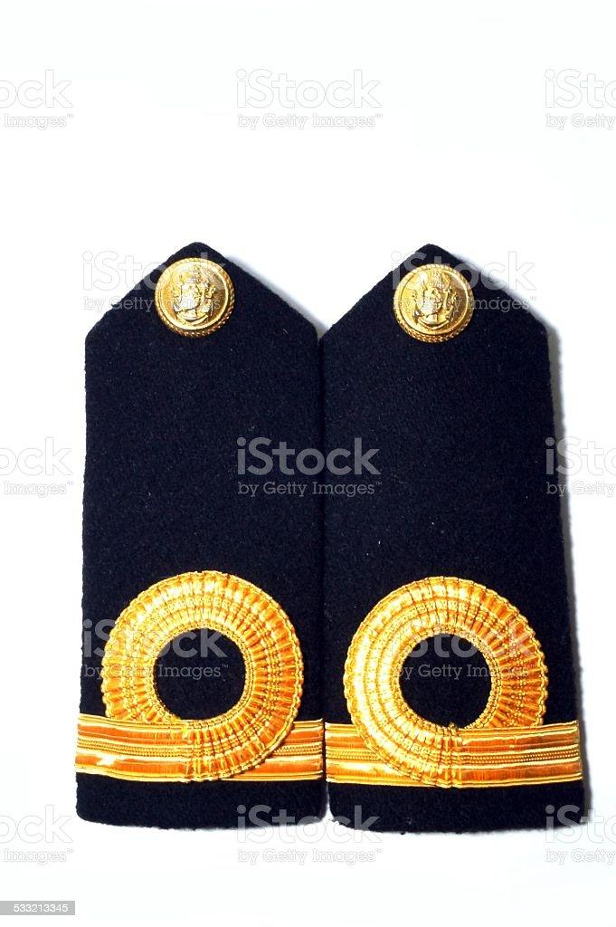 Navy epaulet stock photo