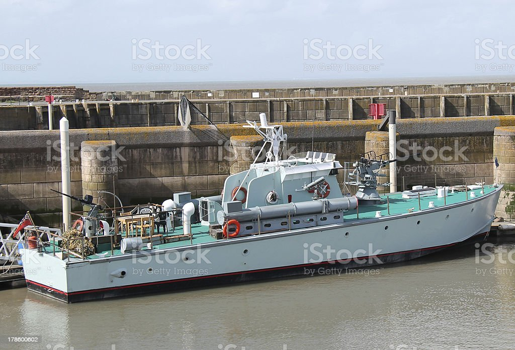Navy Fast Patrol Boat. stock photo