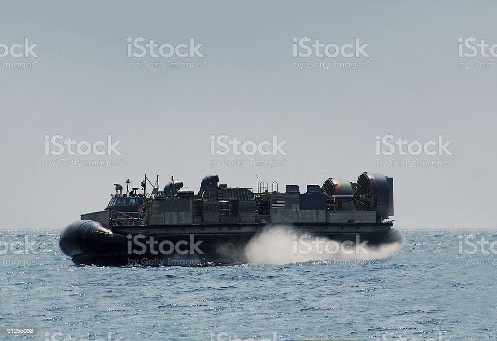 US Navy Hovercraft stock photo
