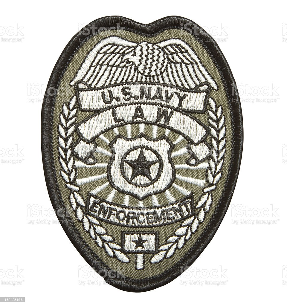 US Navy Law Enforcement Patch stock photo