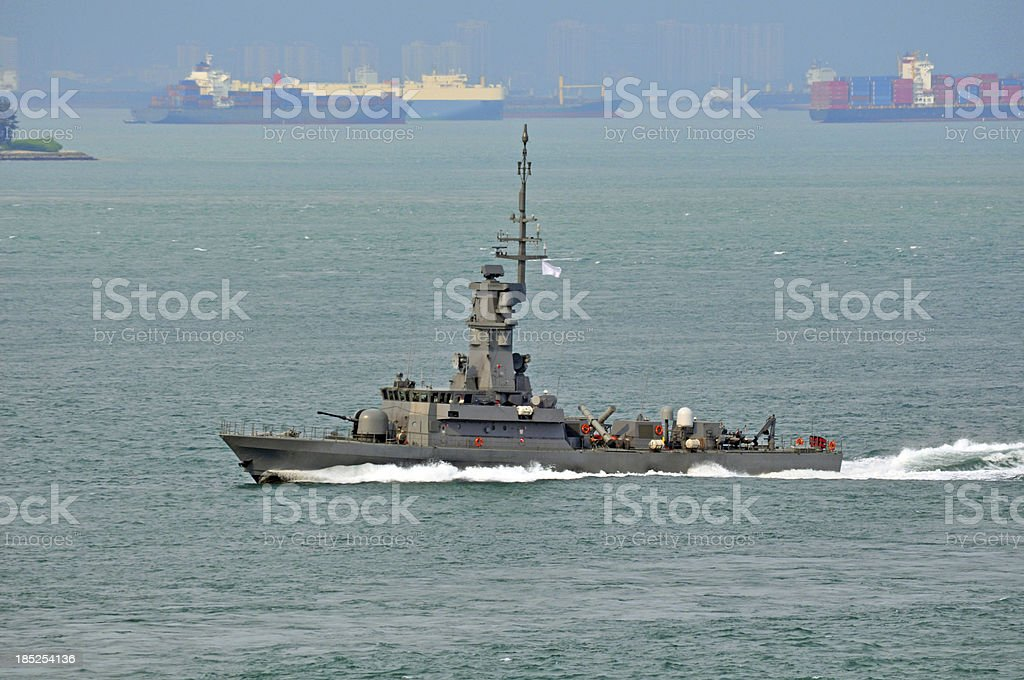 Navy Missile Corvette stock photo