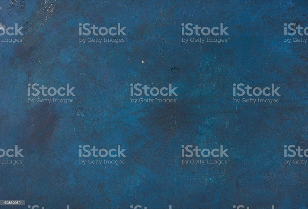 Navy painted old plywood texture, background or wallpaper stock photo