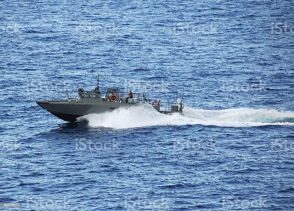 Navy patrol boat stock photo
