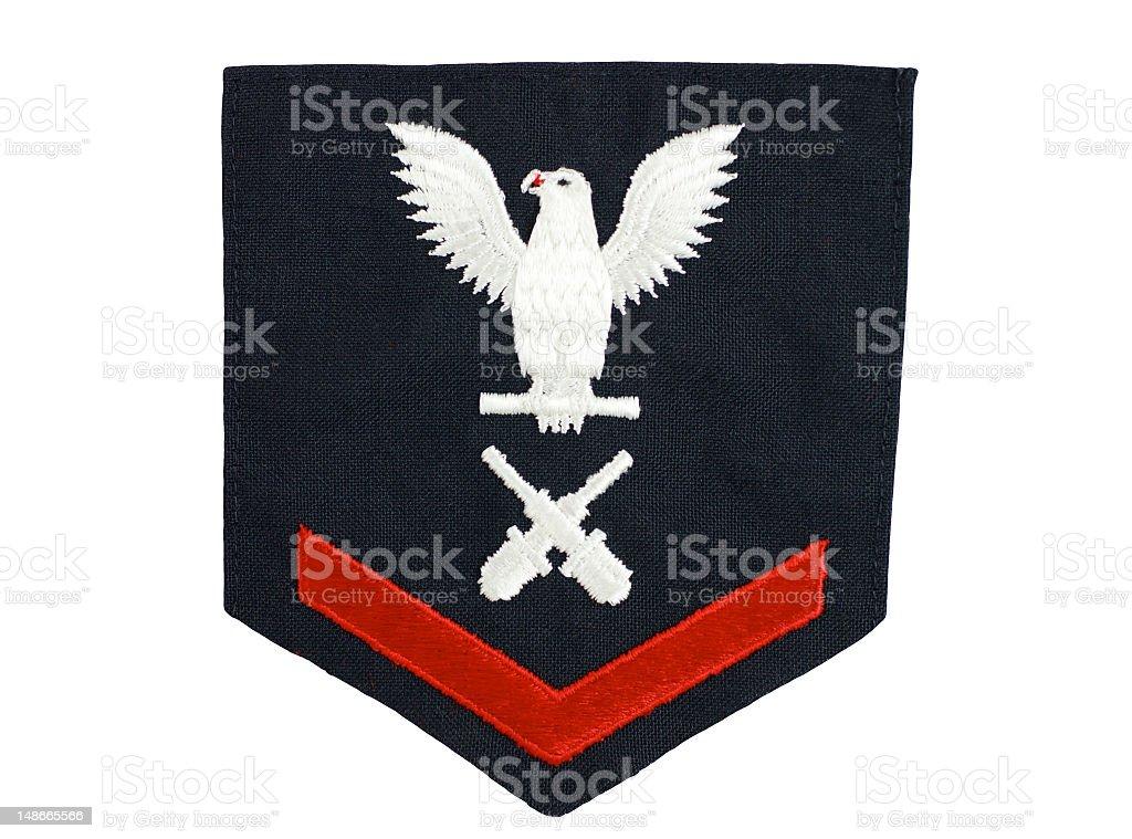 Navy Petty Officer Rank Insignia stock photo