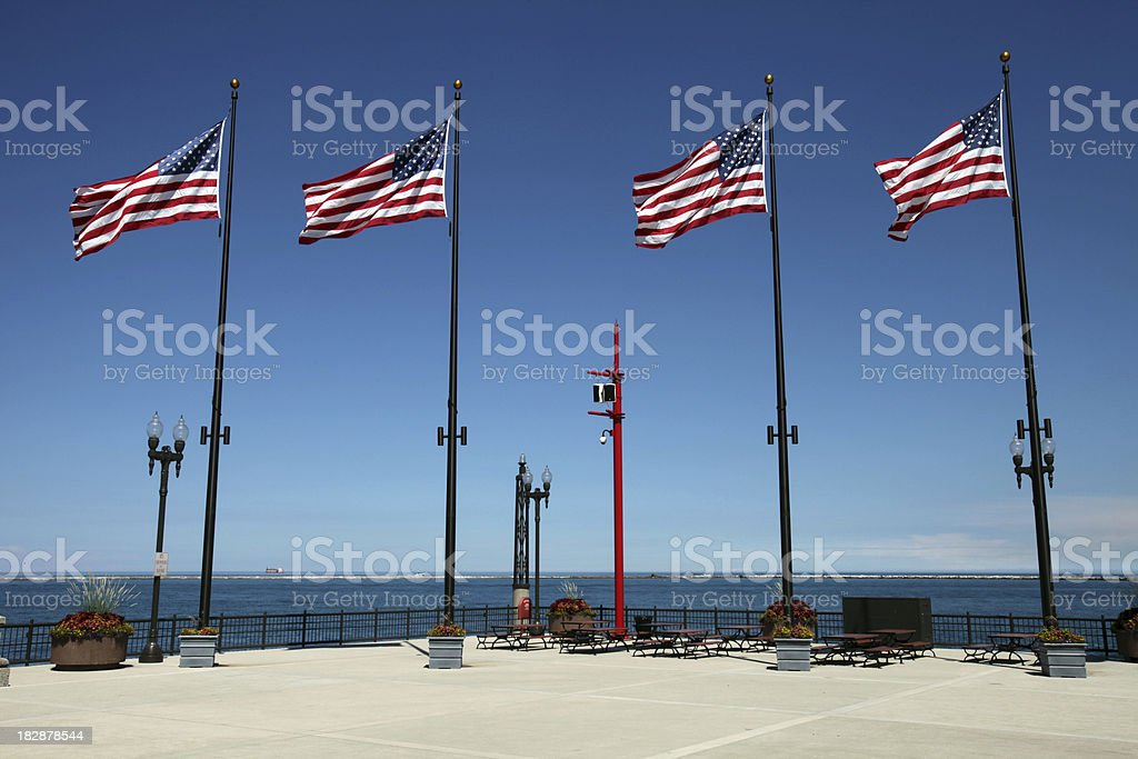 Navy Pier Chicago stock photo