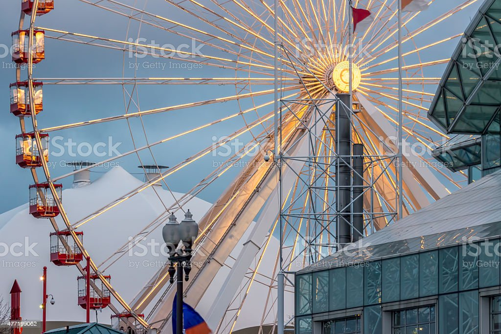 Navy Pier Ferris Wheel In Chicago stock photo