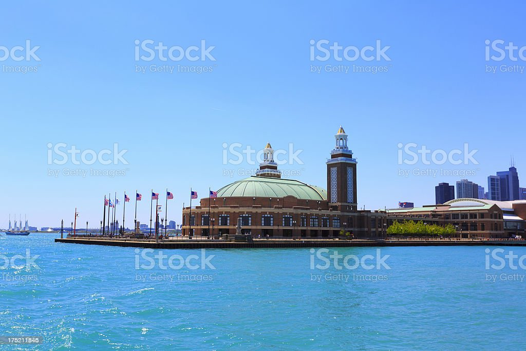 Navy Pier Park in Chicago, IL stock photo