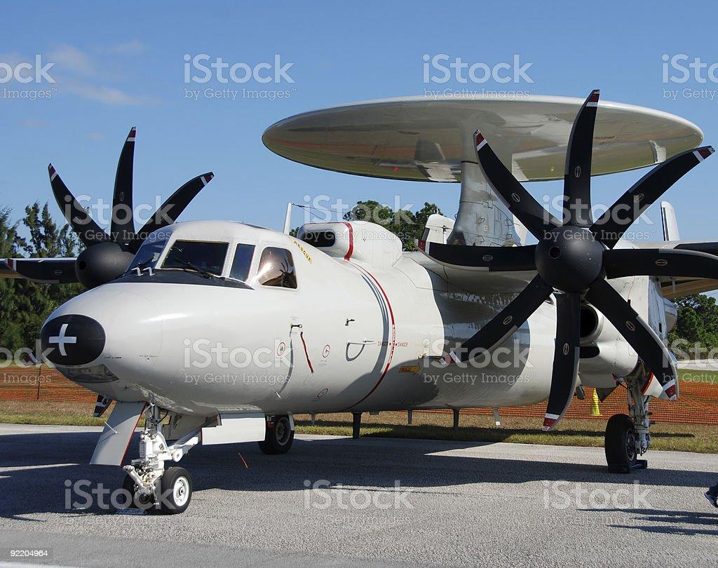 Navy radar jamming airplane royalty-free stock photo