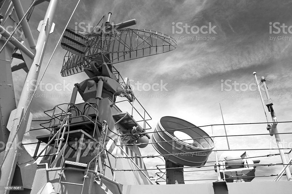 Navy Radar System royalty-free stock photo
