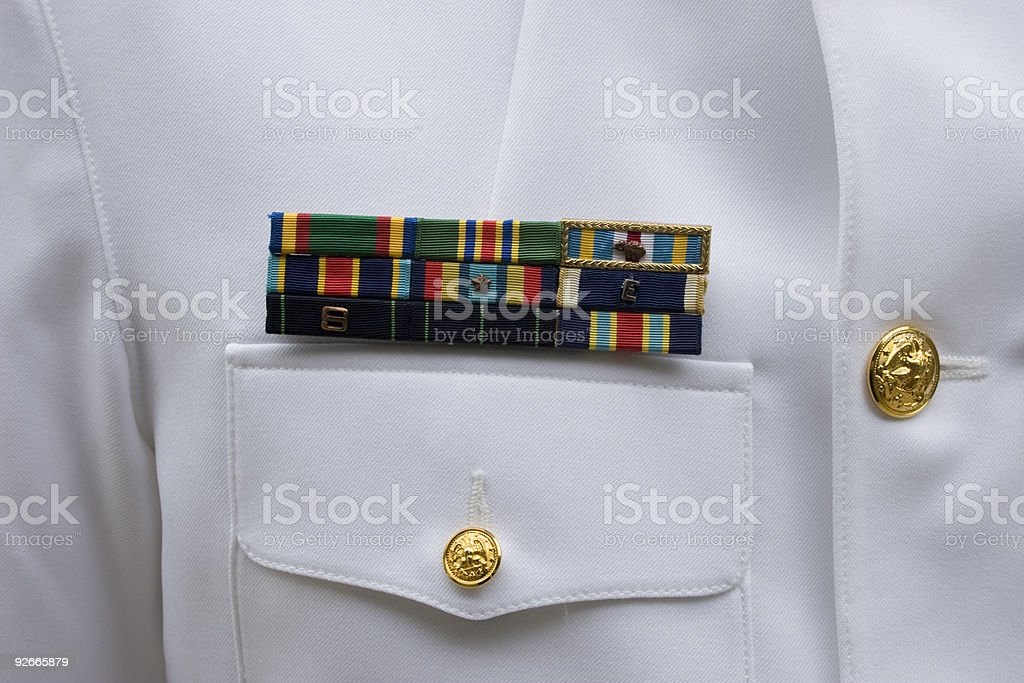 US Navy Ribbons stock photo