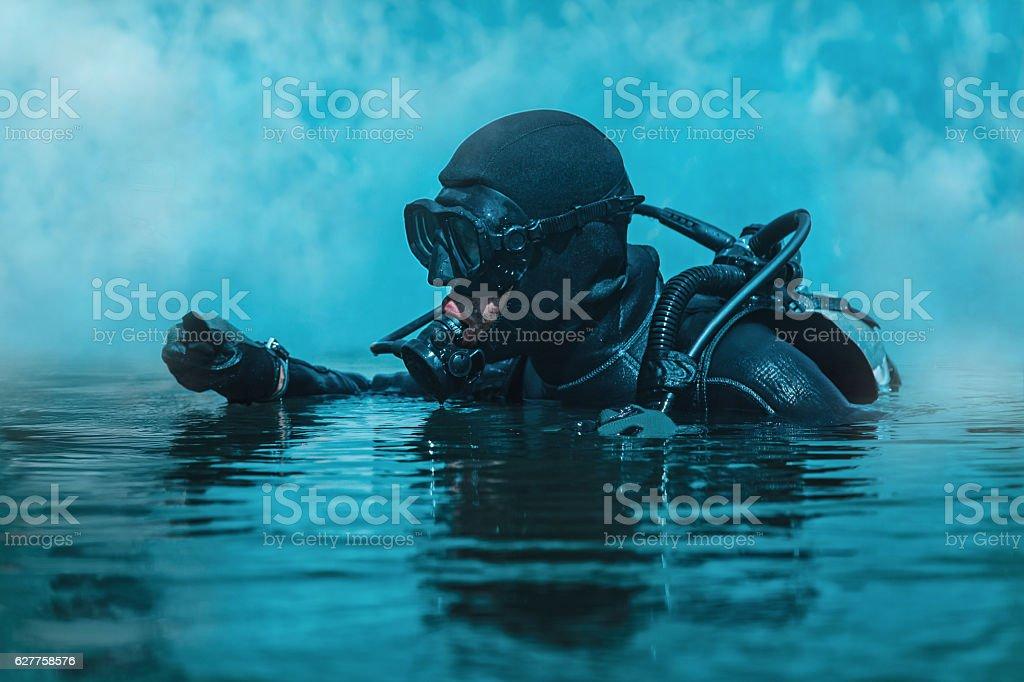 Navy SEAL frogman - foto de acervo
