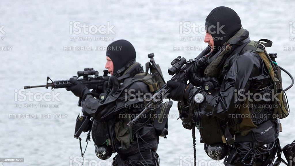 Navy seals stock photo