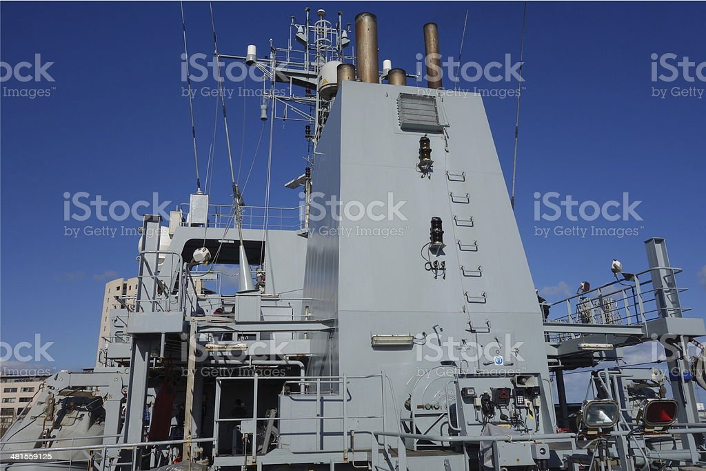 navy ships exhausts stock photo