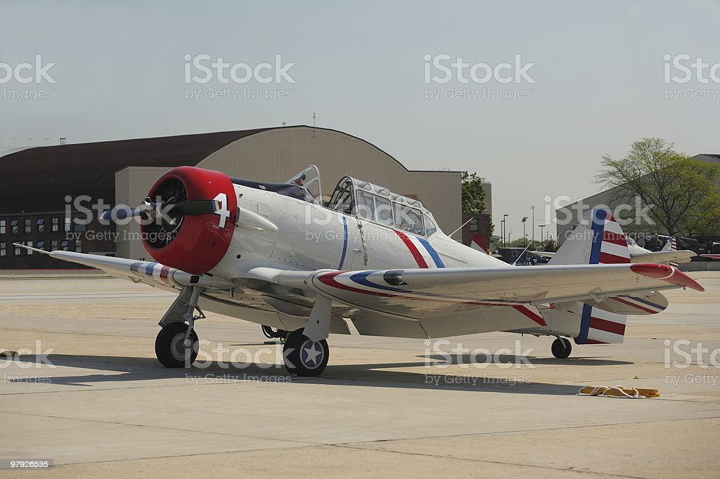 Navy SNJ Trainer royalty-free stock photo