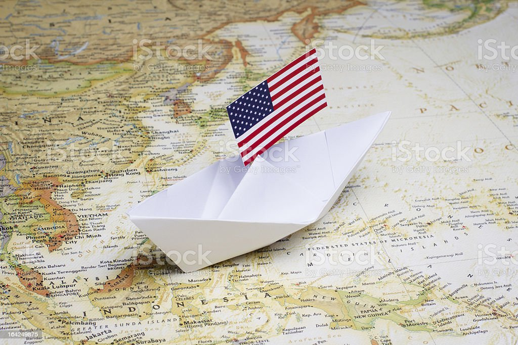 U.S. Navy stationed in the Asia-Pacific region stock photo