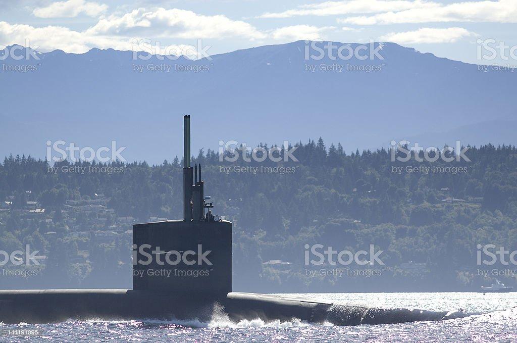 Navy Sub USS Alaska stock photo