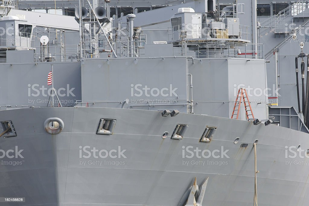 US Navy warship detail royalty-free stock photo