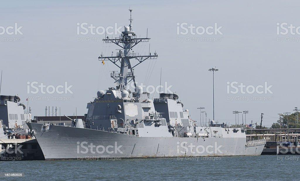 US Navy Warship royalty-free stock photo