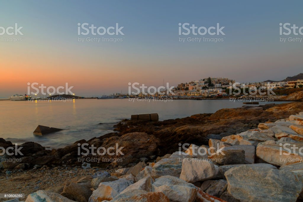 Naxos Chora stock photo