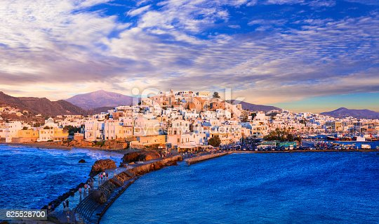 Naxos Island Over Sunset Greece Stock Photo & More Pictures of Adulation