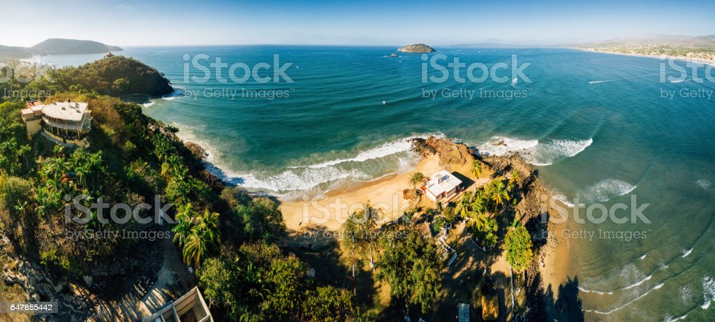 Nayarit Beach Mexico stock photo