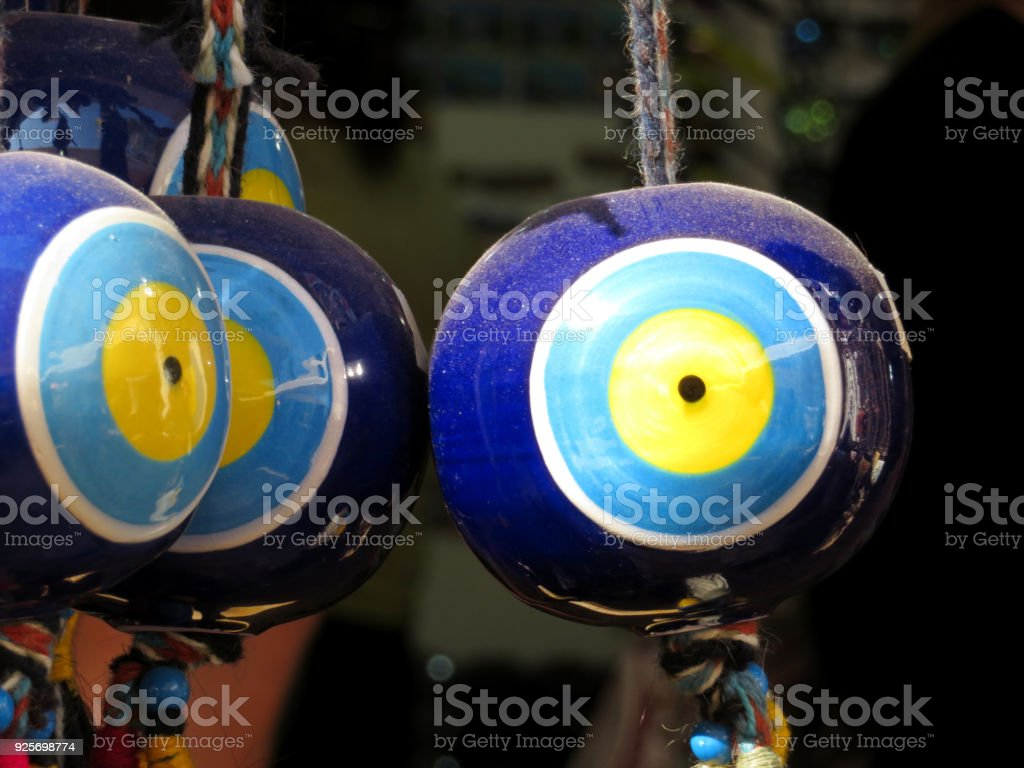 Nazar Amulets In A Turkish Shop Fatimas Eye Protection Against The