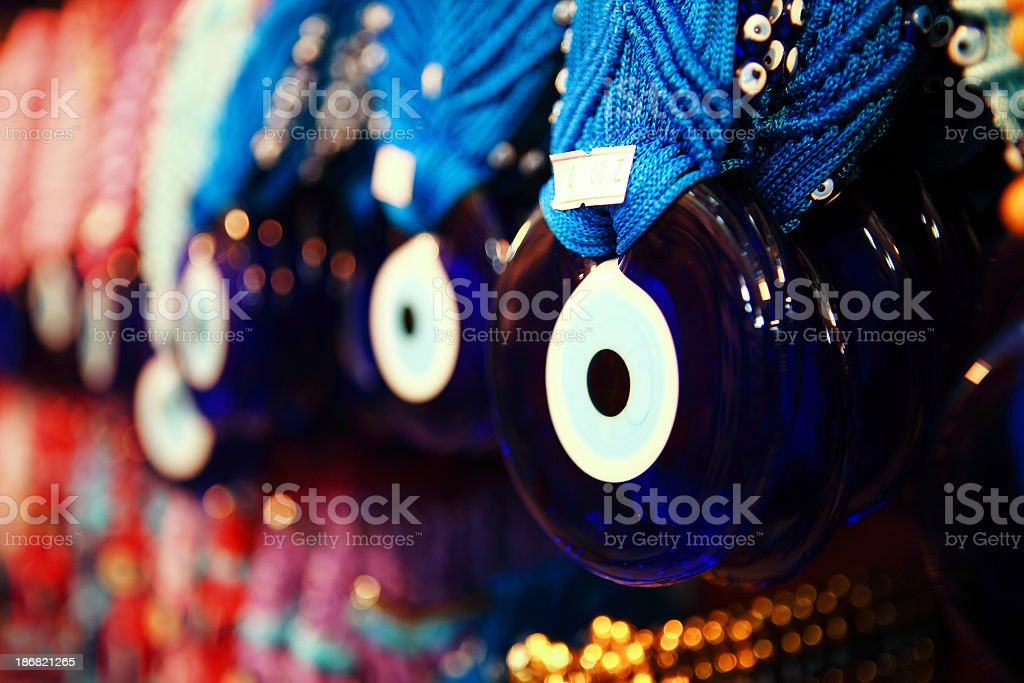 Nazar Boncuk - Evil Eye in all sizes and shapes royalty-free stock photo