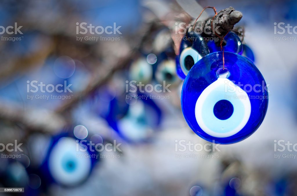 nazar, charms to ward off the evil eye  in Turkey stock photo