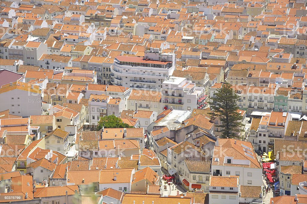 Nazaré in Portugal royalty-free stock photo