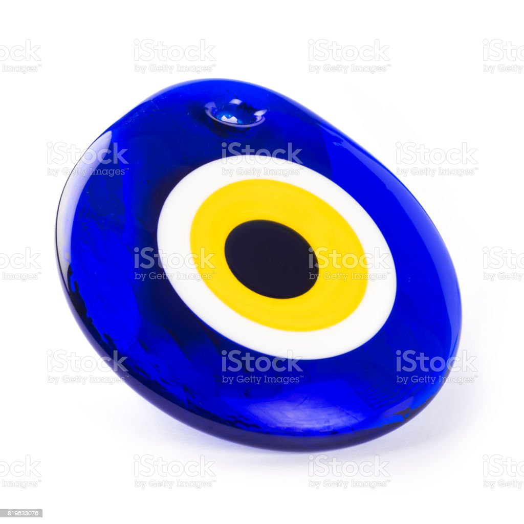 Nazar or Evil eye bead amulet stock photo